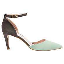 Buy Mint Velvet Sandi Pointed Suede Court Shoes, Mint/ Grey Online at johnlewis.com