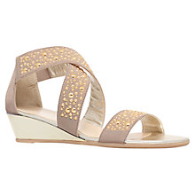 Buy Carvela Comfort Stacy Wedge Heeled Sandals, Taupe Online at johnlewis.com