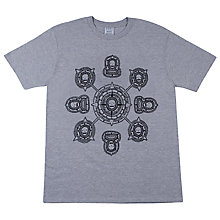 Buy SCRT Death Compass Print T-Shirt, Grey Online at johnlewis.com