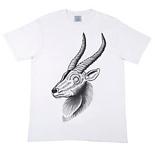 Buy SCRT Antelope Graphic Print T-Shirt, White Online at johnlewis.com
