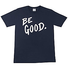 Buy SCRT Be Good Print T-Shirt, Navy Online at johnlewis.com