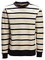 Selected Homme Striped Crew Neck Sweatshirt, Bone White/Navy
