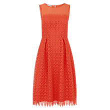 Buy Hobbs Marlena Lace Dress, Marigold Orange Online at johnlewis.com