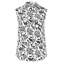 Buy Hobbs Perry Silk Top, Ivory/Black Online at johnlewis.com