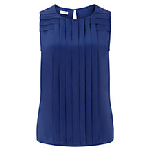 Buy Hobbs Ondine Silk Top, Ultramarine Online at johnlewis.com