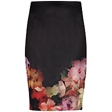 Buy Ted Baker Kaikai Cascading Floral Pencil Skirt, Black Online at johnlewis.com