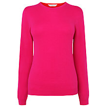 Buy L.K. Bennett Lora Colour Block Sweater, Pink / Salsa Red Online at johnlewis.com