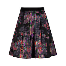 Buy Ted Baker Holographic Halftone Skirt, Black Online at johnlewis.com