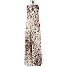 Buy Ted Baker Butterfly Print Maxi Dress, Cream Online at johnlewis.com