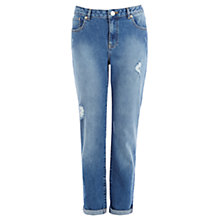 Buy Warehouse Girlfriend Jeans, Mid Wash Denim Online at johnlewis.com