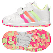 Buy Adidas Children's Snice 3 Trainers, White/Pink Online at johnlewis.com