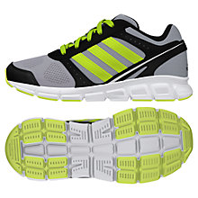 Buy Adidas Children's Hyperfast Running Trainers, Silver/Yellow Online at johnlewis.com
