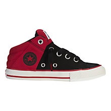 Buy Converse Children's CTAS Axel Trainers, Black/Red Online at johnlewis.com