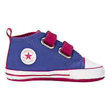 Buy Converse Baby's Chuck Taylor All Star Trainers, Periwinkle/Berry Online at johnlewis.com