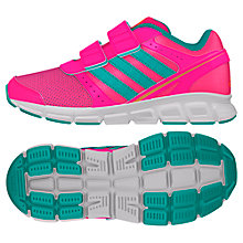 Buy Adidas Children's Hyperfast Running Trainers, Solar Pink/Mint Online at johnlewis.com