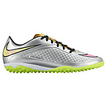 Buy Nike Children's Hypervenom Phelon Football Trainers, Silver Online at johnlewis.com