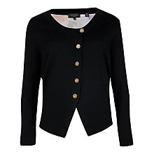 Buy Ted Baker Cascading Flora Cardigan, Black Online at johnlewis.com