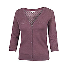Buy Fat Face Annie Cardigan, Dark Heather Online at johnlewis.com