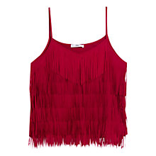 Buy Mango Fringe Camisole, Raspberry Online at johnlewis.com