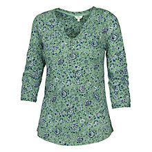 Buy Fat Face Wickham Florabundle Popover Top, Green Tea Online at johnlewis.com