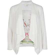 Buy Ted Baker Pola Mirrored Tropics Wrap Coat, Ivory Online at johnlewis.com