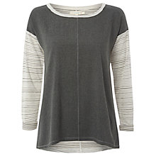 Buy White Stuff Copenhagen Stripe T-Shirt, Street Grey Online at johnlewis.com