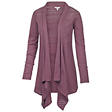 Buy Fat Face Callie Waterfall Cardigan, Dark Heather Online at johnlewis.com