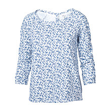 Buy Fat Face Aylesbury Creeping T-Shirt, Ivory / Blue Online at johnlewis.com