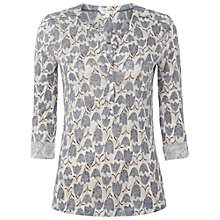 Buy White Stuff Cycle Linen Jersey Top, Misty Mauve Online at johnlewis.com