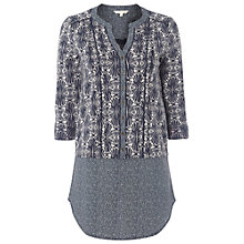 Buy White Stuff New Island Tunic Top, Dark Street Grey Online at johnlewis.com