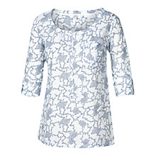 Buy Fat Face Newbury Climbing Clover Top, White Online at johnlewis.com
