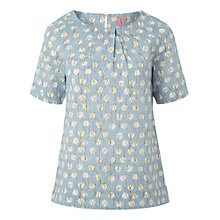Buy White Stuff Dotty Tulip Top, Clear Sky Online at johnlewis.com