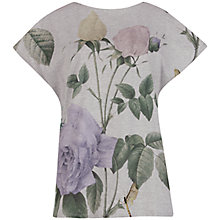 Buy Ted Baker Rozzl Distinguished Rose T-Shirt, Grey Marl Online at johnlewis.com