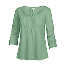 Buy Fat Face Lace Placket T-Shirt Online at johnlewis.com