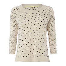 Buy White Stuff Dotty Jumper, Natural Online at johnlewis.com