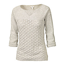 Buy Fat Face Luella Twist Jumper, Ivory Online at johnlewis.com