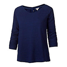 Buy Fat Face Aylesbury Cotton Top, Navy Online at johnlewis.com