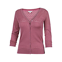 Buy Fat Face Annie Cotton Cardigan, Rose Online at johnlewis.com