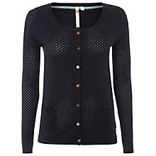 Buy White Stuff Punch Hole Cardigan, Navy Online at johnlewis.com
