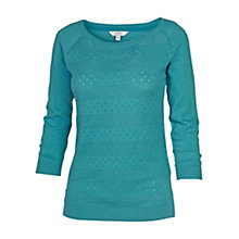Buy Fat Face Libby Cotton Jumper, Ocean Tide Online at johnlewis.com