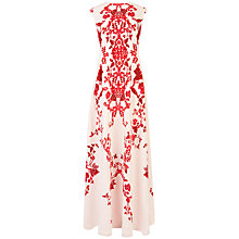 Buy Ted Baker Nelum China Maxi Dress, Nude Pink Online at johnlewis.com