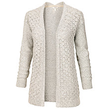 Buy Fat Face Luella Twist Cardigan, Ivory Online at johnlewis.com