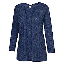Buy Fat Face Luella Twisted Cardigan, Dark Chambray Online at johnlewis.com