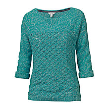 Buy Fat Face Luella Twisted Jumper, Ocean Tide Online at johnlewis.com