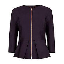 Buy Ted Baker Shiny Lavanta Suit Jacket, Grape Online at johnlewis.com
