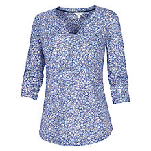 Buy Fat Face Wickham Misty Meadow Popover Top, Chambray Online at johnlewis.com