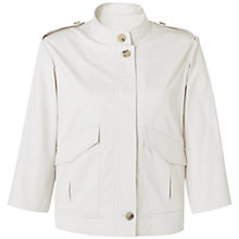 Buy Jigsaw Casual Utility Jacket, Cream Online at johnlewis.com