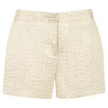 Buy Ted Baker Filicsh Metallic Suit Shorts, Gold Online at johnlewis.com