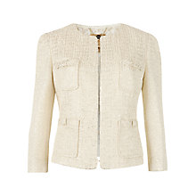 Buy Ted Baker Metallic Cropped Suit Jacket, Gold Online at johnlewis.com