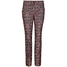 Buy Ted Baker Malta Jacquard Trousers, Mink Online at johnlewis.com
